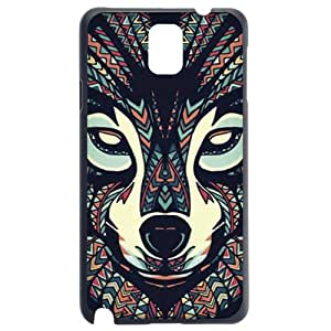 Fashion Personality Vintage Pattern Aztec Animal Cool Wolf Hard Back Plastic Case Cover Skin Protector For Samsung Galaxy Note3
