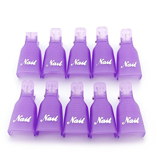 KADS 10pcs/set Plastic Acrylic Nail Art Soak Off Cap Clip UV Gel Polish Remover Wrap Cleaner Superior Clip Caps Tools KADS Co. Ltd