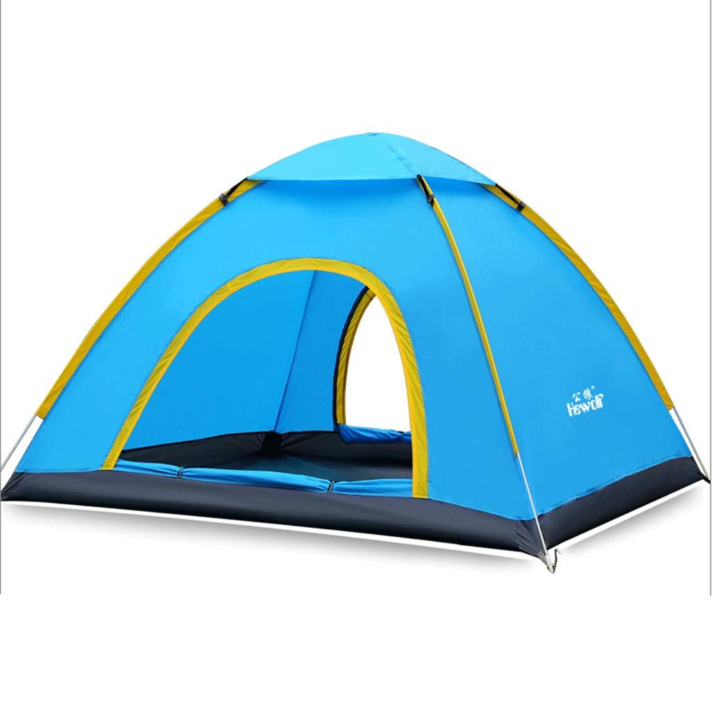 Im Freien Automatische Double-Layer-Regendicht Camping Strand Zelt Multi-Person Regen-Beweis-Geschwindigkeit Öffnen Zelt One-Throw Open Suit
