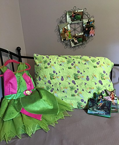 Pillowcase Disney Tinkerbell Fairies Bedding Flannel Children's Bedding Great Birthday Gift Home & - Tinkerbell Flannel
