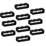 TenCloud 10-Pack Replacement Black Silicone