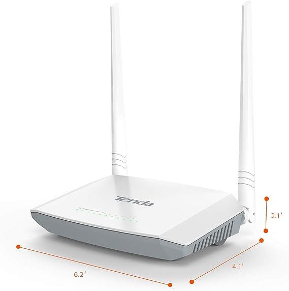 Tenda D301 Router Modem N300 inalámbrico WiFi (300 Mbps, 2 ...
