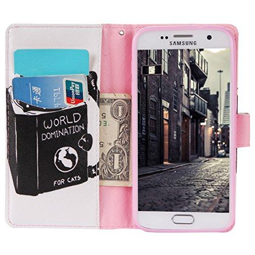 Galaxy S7 G930 Fundas Tapa, Asnlove Funda Libro de PU Leather Cuero,Carcasa para Móvil Cubierta Con Flip Case Cover Billetera Cartera Monedero Con Soporte Cierre Magnetica para Samsung Galaxy S7 G930- Color9