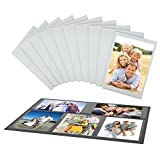 UnityStar 10-Pack 4x6 Magnetic Picture Frames for Refrigerator with 1 Collage Photo Frame Black, Holds 15 Pcs 4x6 Photos in Total