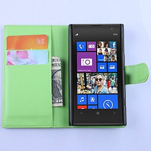 Funda Nokia lumia 1020,Manyip Caja del teléfono del cuero,Protector de Pantalla de Slim Case Estilo Billetera con Ranuras para Tarjetas, Soporte Plegable, Cierre Magnético(JFC7-14) A