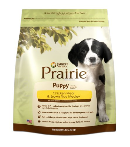 Prairie Puppy Chicken Meal & Brown Rice Medley Dry Dog Food by Nature's Variety, 5 lb bag