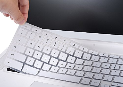 Acer Chromebook 15 Silicon Keyboard Protector Skin Cover for Acer Chromebook 15 CB3-531 CB3-532 CB5-571 C910 15.6 Chromebook US Layout, White