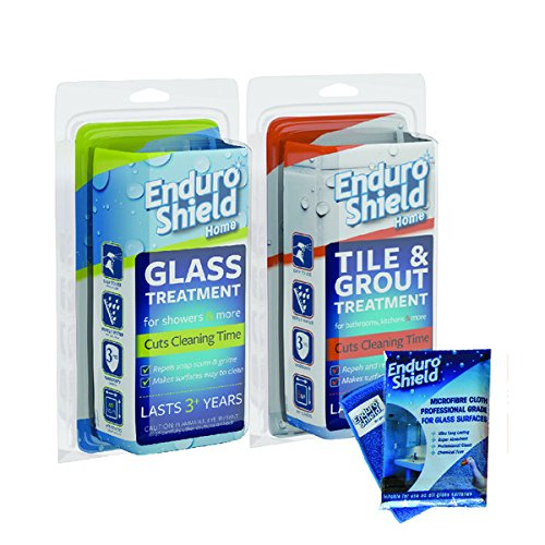Enduroshield Home Easy Clean Treatment Twin Bonus Pack (includes 2.0 Oz Glass Kit & 4.2 Oz Tile Kit)