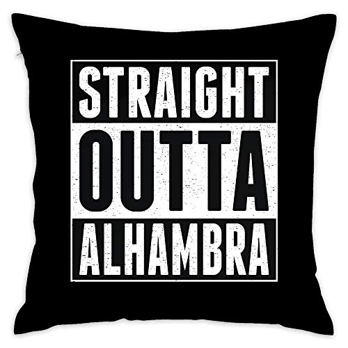 (Straight Outta Alhambra Throw Pillow Cover 18x18 Inch, Square Indoor Outdoor Cushion Cover Decor Pillowcase Cover for Couch Sofa Bedroom)