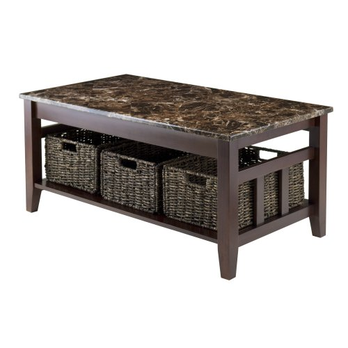 Winsome Wood 76337 Zoey Occasional Table, Chocolate