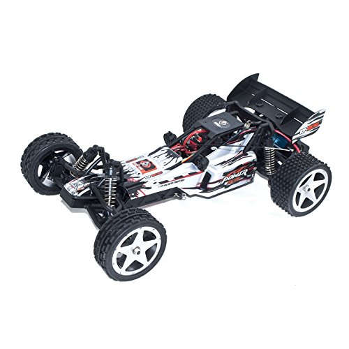 (ALEKO 66202 Electric Powered Brushless Motor High Speed Off-Road Buggy, White 1/12 Scale)