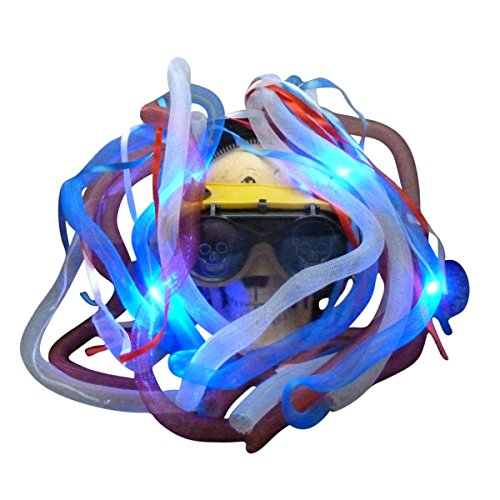 (Steampunk Goggles LED Light Dread cyberlock Goth Rave Club M1 (Rave)