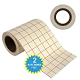 15.2cm by 15m PREMIUM Transfer Paper Tape Roll with Grid - PERFECT ALIGNMENT for Cricut or Silhouette Cameo Self Adhesive Vinyl for Walls, Signs, Decals, Windows, and More