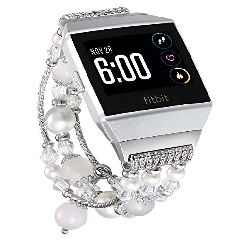 Replacement Bands Compatible for Fitbit Ionic, Fastgo Artificial Agate Straps Compatible for Ionic Smart Watch