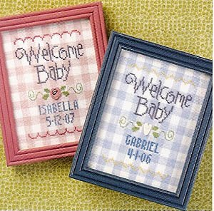 Welcome Stitch Cross Chart (Welcome Baby (LK) Cross Stitch Chart and Free Embellishment)