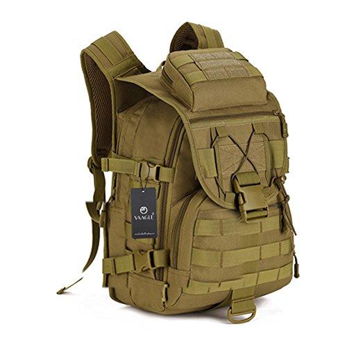 YAAGLE 40L outdoor Reisetasche Rucksack militärisch 14 zoll Laptoptasche Gepäck Schultertasche Sporttasche-braun