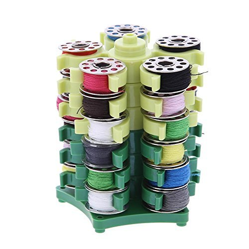VKTECH Sewing Thread Storage Rack Shuttle Core Case Holder Embroidery Thread Organizer for 30 Bobbins