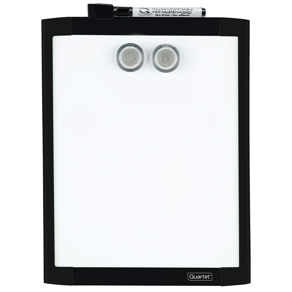"Quartet Magnetic Whiteboard, 8-1/2"" x 11"" White Board, Dry Erase Board, Black Frame (MHOW8511-BK)"