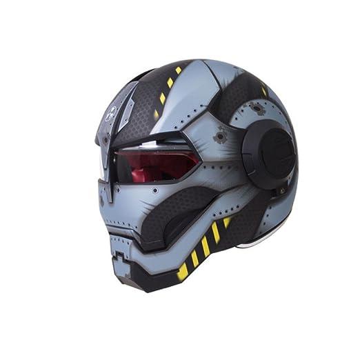JPFCAK Casco Personalizado para Motocicleta Predator Casco ...