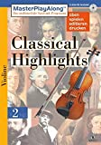 MasterPlayAlong, Classical Highlights 2, CD-ROMs : Violine, 1 CD-ROM Für Windows 95/98