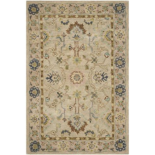Safavieh Anatolia Collection AN585B Handmade Traditional Oriental Ivory and Beige Wool Area Rug (3' x 5') ()
