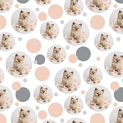 GRAPHICS & MORE Miradoll Ragdoll Cat Kitten Flowers Premium Gift Wrap Wrapping Paper -