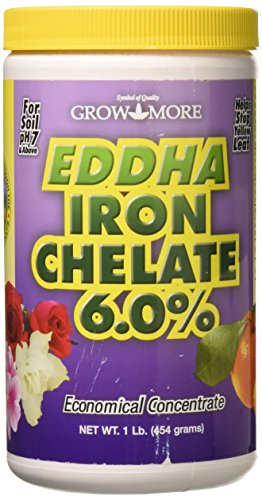 Grow More 6546 EDDHA Iron Chelate, 1-Pound (Best Plant Sources Of Iron)