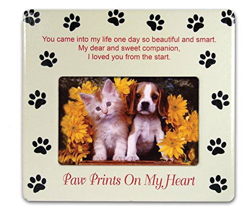 Pet Memorial Picture Frame - Paw Prints on My Heart - Pet Sy
