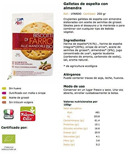 La Finestra Sul Cielo Galletas de Espelta - 2 Paquetes de 250 gr - Total: 500 gr: Amazon.es: Alimentación y bebidas