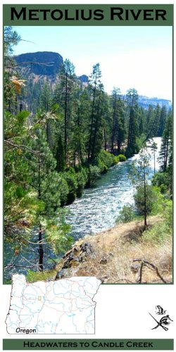 Metolius River 11x17 Fly Fishing Map