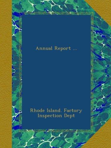 Annual Report ... pdf epub