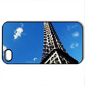 Eiffel Tower - Case Cover for iPhone 4 and 4s (Ancient Series, Watercolor style, Black)
