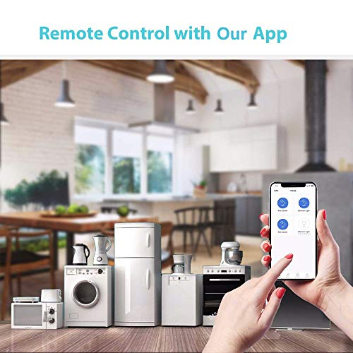 Wifi Smart Plug 2 Pack, Mini Outlet Works with Amazon Alexa Google Assistant IFTTT, No Hub Required, ETL and FCC Listed Remote Control Socket by Refoss (Image #2)