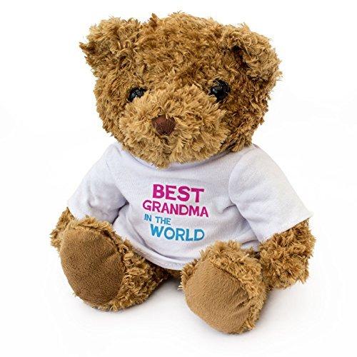 NEW - BEST GRANDMA IN THE WORLD - Teddy Bear - Cute And Cuddly - Gift Present Birthday Xmas