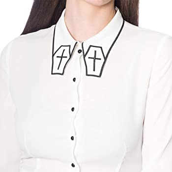 Banned Camisa o Blusa de Manga Larga con Bordado Undertaker - Blanco M: Amazon.es: Ropa y accesorios