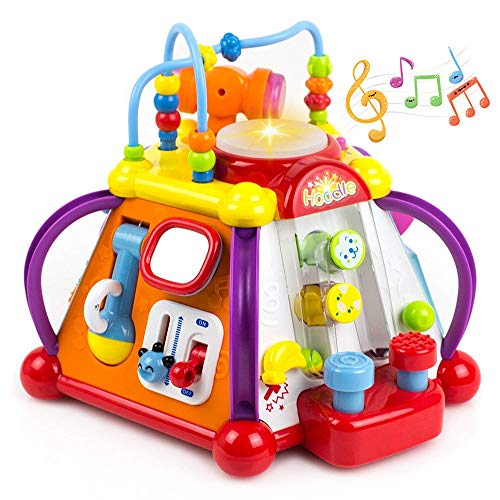 - Yiosion Musical Activity Cube Play Center Educational Learning Toy with Music and Sounds for 1 2 3 Year Old Baby Toddler Girls Boys