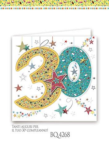 Boutique tarjeta felicitación cumpleaños 30 años cuadrado a ...