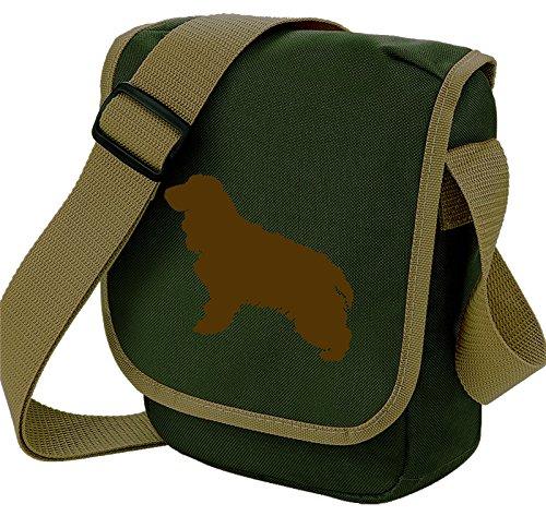 Choice Shoulder Spaniel Silhouette Reporter Olive Bag Spaniel Gift Bag Cocker Cocker Bag Bag Colours of Dog Brown Cocker Dog 7TdnwqI