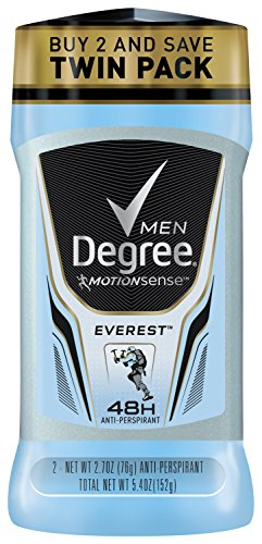 Degree Men Série Adrenaline & Déodorant antisudorifique, Everest 2,7 onces chacune, Twin Pack