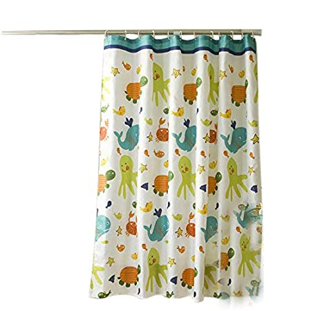 Sfoothome Gray Mosaic Shower Curtain,Waterproof Polyester Fabric Shower Curtain Liner, Bath Curtain For Bathroom With Heavy Weighted Hem,Size 180cm X 200cm .
