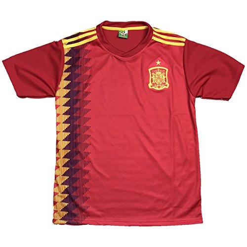 扇動するインレイリダクターサッカーユニフォーム 2017-2018モデル スペイン代表 ホーム 名前背番号なし レプリカサッカーユニフォーム 大人用