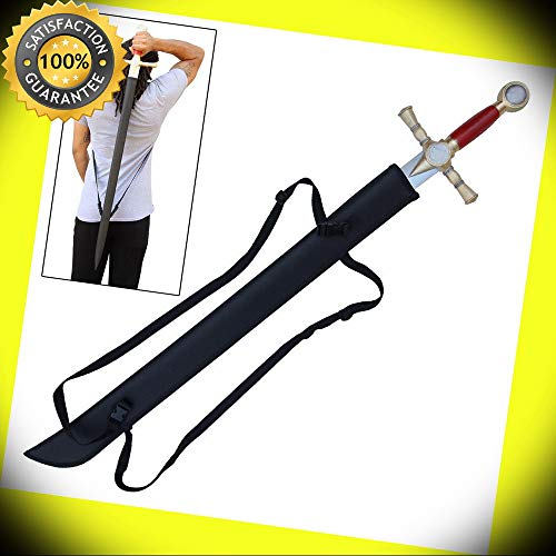 (Free Sheath Masonic Tylers Oath Knights Templar Sword Set perfect for cosplay outdoor)
