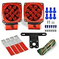 Wellmax 12V LED Trailer Lights Kit | Submersible Tail Lights for: RV, Marine, Boat, Trailer + for All Outdoor terrains | DOT Compliant | Over 80 inches