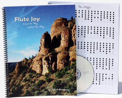 Native American Flute Joy Basic Instruction Book for your 6-Hole Flute & CD.