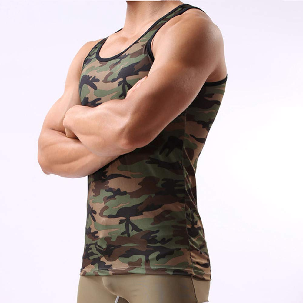 Sport Tank Top Bsjmlxg Mens Camouflage Vest Health Care Breathable