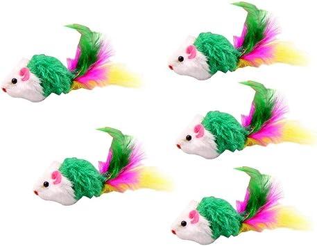 Ndier Juguete de Ratones para Gato Kit de 5 Paquetes de Colores aleatorios Ratones de Gatito Peludos: Amazon.es: Juguetes y juegos