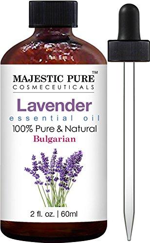 Majestic Pure Bulgarian Lavender Essential Oil, Therapeutic Grade, Authentic 100% Pure and Natural Lavender Oil, 2 fl. oz.