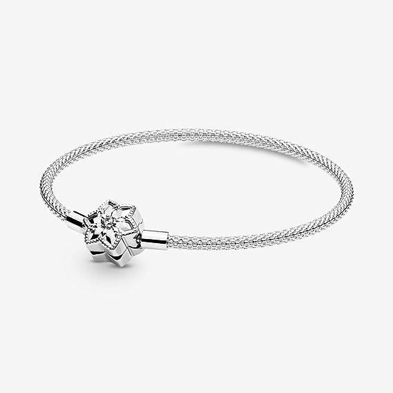 PANDORA Snowflake Clasp 925 Sterling Silver Bracelet