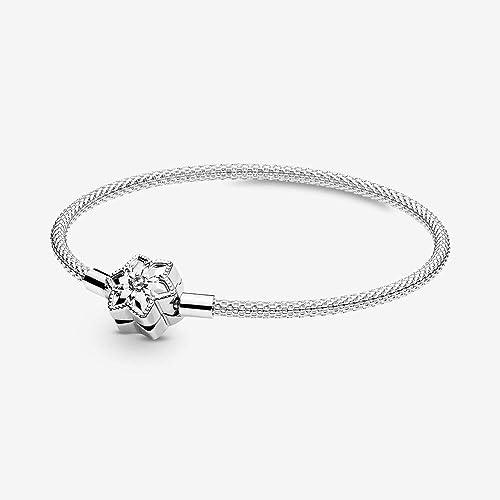 Pandora Moments Bright Snowflake 598616C01 Bracelet pour femme