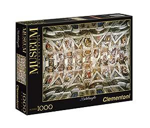 """Clementoni - Puzzle de 1000 piezas, diseño Michelangelo:: """"Bóveda de la Capilla Sixtina"""" (39225.4)"""